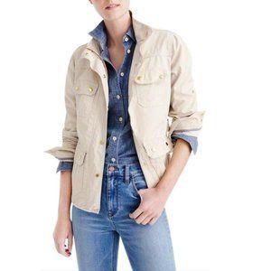 J Crew Downtown Field Jacket Waxed Khaki Size XS